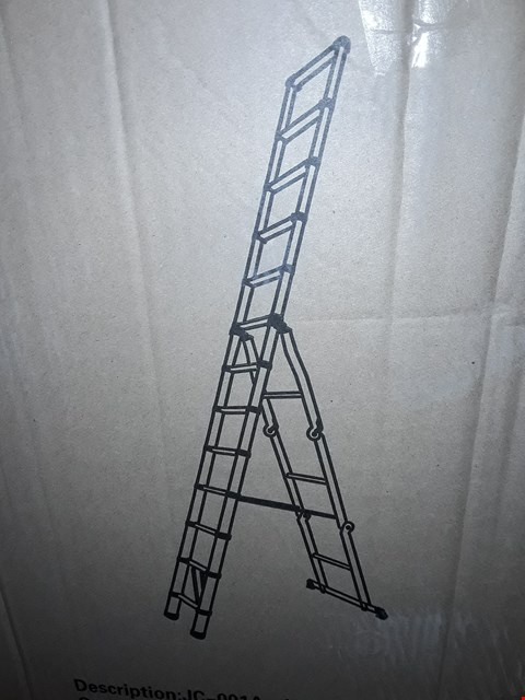 Lot 14068 BOXED FREE STANDING LADDER