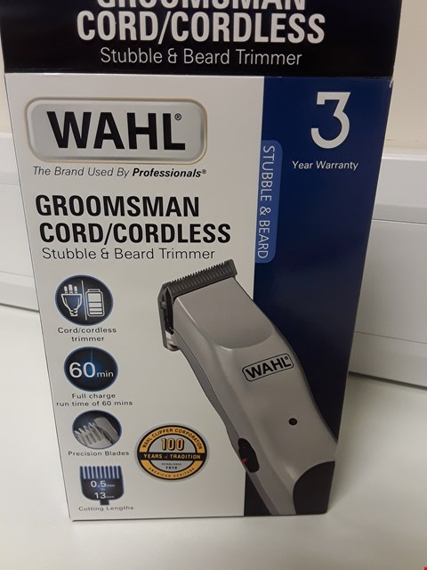 Lot 4569 BOXED WAHL GROOMSMAN CORD/CORDLESS STUBBLE & BEARD TRIMMER