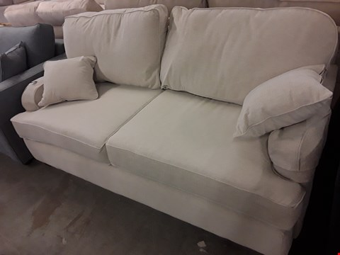 Lot 115 QUALITY HAND MADE DOWNTON NATURAL FABRIC 3 SEATER SOFA  RRP £1325.00