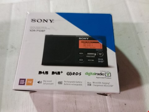 Lot 12164 SONY XDR-P1DBP DAB RADIO
