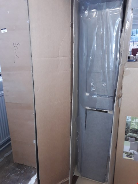 Lot 3087 BOXED GREY CANVAS SINGLE BED BASE WITH DRAWERS