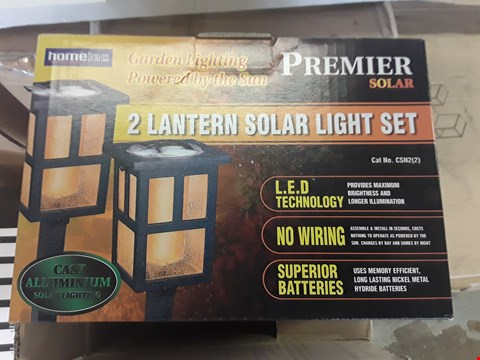 Lot 400 TWO BOXED SETS OF TWO PREMIER SOLAR GARDEN LIGHTS