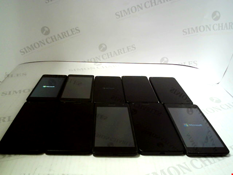 Lot 3379 LOT OF 10 ASSORTED SMARTPHONES; VARIOUS MAKES AND GRADES