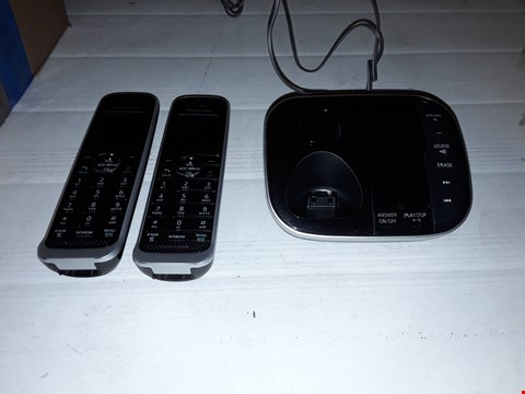 Lot 12443 PANASONIC KX-TGJ322EB TWIN HANDSET CORDLESS HOME PHONE