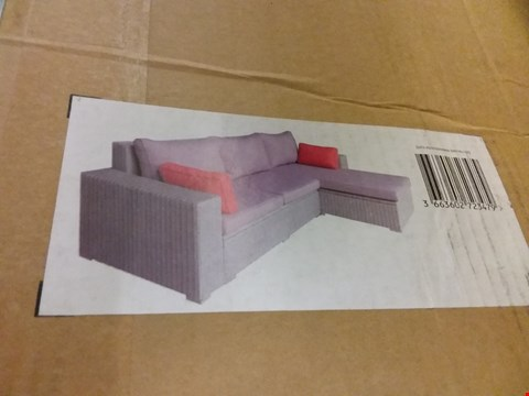 Lot 3066 BOXED BLOOMA GABBS RATTAN EFFECT 3-4 SEATER GARDEN SOFA  RRP £810