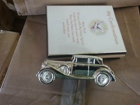 Lot 111 A LOT CONSISTING OF 2 BOXES OF 12 PERSONILSED NOTEBOOKS AND 4 BOXES OF 77 SILVER PLATED CARS