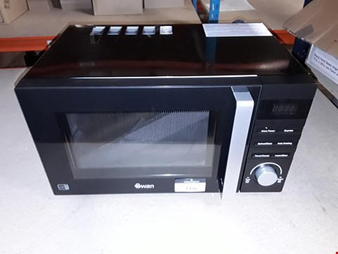 Lot 1356 SWAN SM22100B 23L MICROWAVE BLACK RRP £109.99
