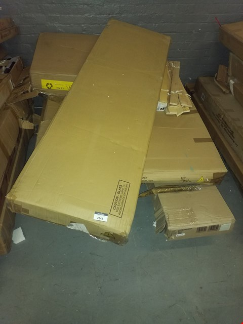 Lot 12176 PALLET OF ASSORTED FLAT PACK FURNITURE PARTS