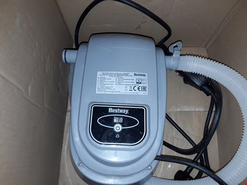 Lot 54 BESTWAY POOL HEATER  RRP £124.99