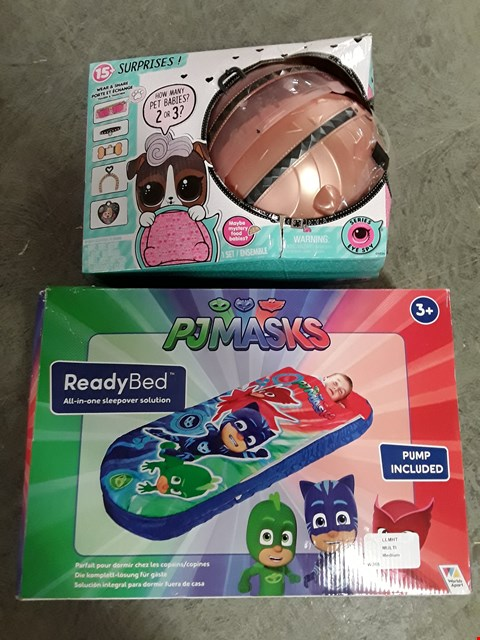 Lot 2477 LOT OF 2 ASSORTED GRADE 1 ITEMS TO INCLUDE PJMASKS READYBED, LOL SURPRISE BIGGIE PETS RRP £74