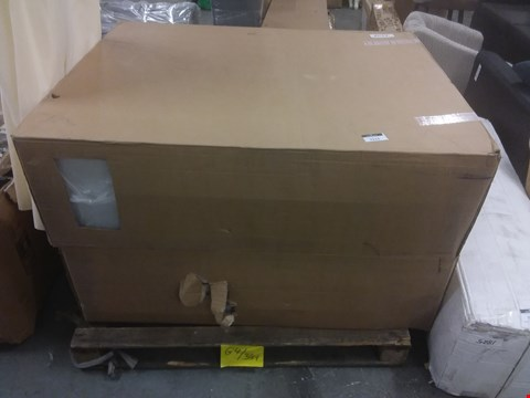Lot 7213 BOXED WHITE FABRIC 4' DIVAN BASE, SMALL DOUBLE (2 BOXES)