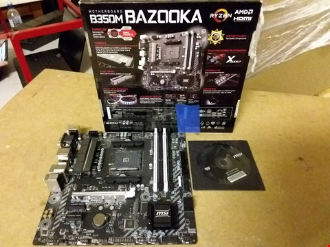 Lot 885 MSI BAZOOKA B350 MOTHERBOARD