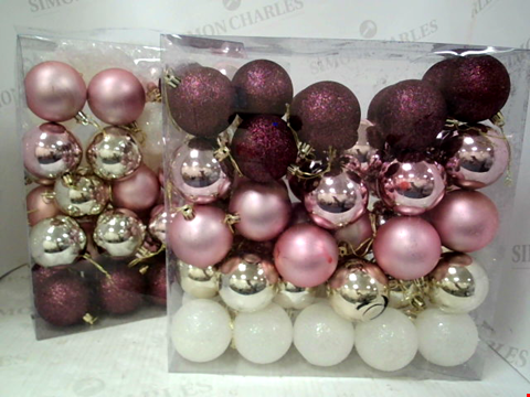 Lot 10049 PACK OF 100 FROSTED ROSE BAUBLES RRP £28.00