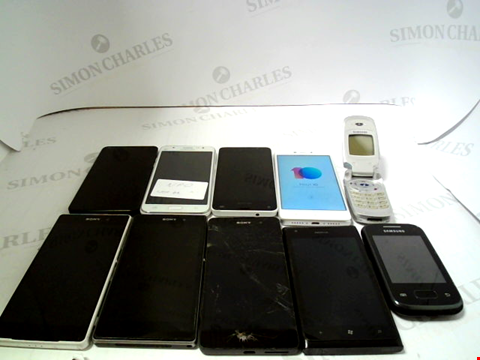 Lot 670 LOT OF APPROXIMATLEY 10 ASSORTED MOBILE PHONES AND SMARTPHONES ETC
