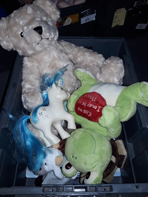 Lot 572 BOX ASSORTED SOFT TOYS
