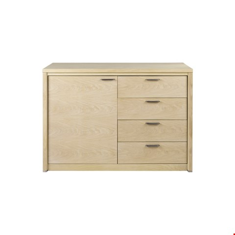 Lot 3036 CONTEMPORARY DESIGNER BOXED JENSON BLONDE OAK SMALL SIDEBOARD  RRP £768.00