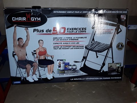 Lot 943 BOXED CHAIR GYM TOTAL BODY EXERCISE MACHINE