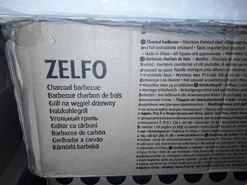 Lot 1020 BOXED ZELFO CHARCOAL BARBECUE RRP £65.00