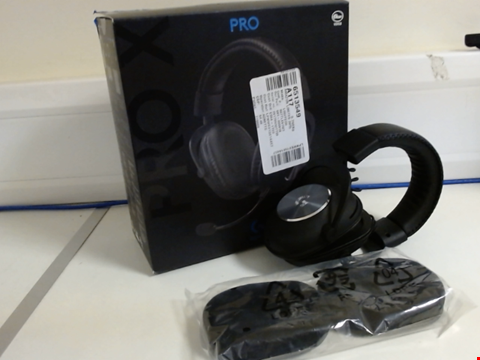 Lot 15159 LOGITECH G PRO X GAMING HEADSET (2ND GENERATION) WITH BLUE VO!CE, DTS HEADPHONE:X 7.1 AND 50 MM PRO-G DRIVERS (FOR PC, PS4, SWITCH, XBOX ONE, VR) - BLACK