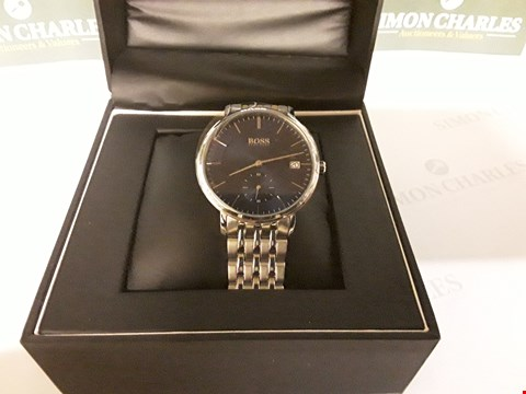 Lot 84 BOSS CORPORAL BLUE SUNRAY DIAL WATCH RRP £299.00