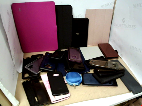 Lot 6192 BOX OF ASSORTED PHONE AND TABLET CASES ETC