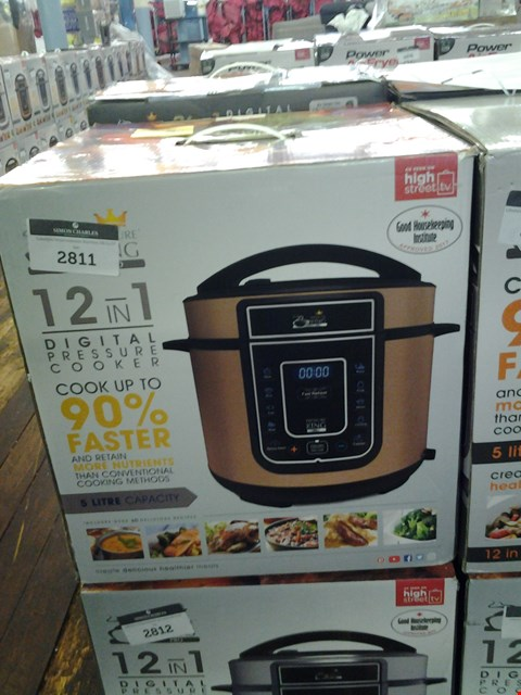 Lot 139 BOXED PRESSURE KING PRO 5L 12-IN-1 DIGITAL PRESSURE COOKER RRP £69.99