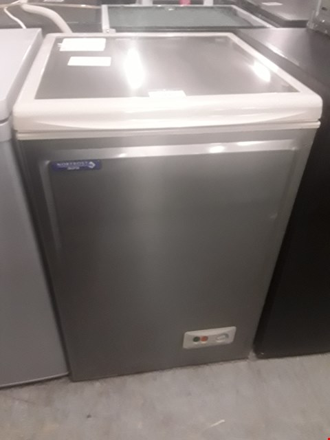 Lot 44 NORFROST AURA C4AES-H CHEST FREEZER IN SILVER