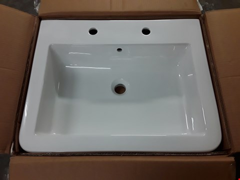 Lot 448 BOXED WATERMARK 600 2-TAP BASIN - 605 X 480 X 170MM RRP £149