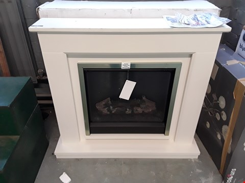 Lot 44 DESIGNER BE MODERN BEAPORT MATT CASHMERE LED ELECTRIC FIRE SUITE RRP £498.00