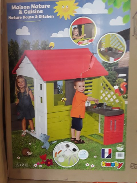 Lot 97 SMOBY NATURE PLAYHOUSE WITH KITCHEN (1 BOX) RRP £246.00