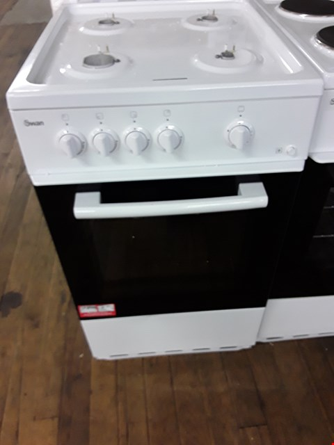 Lot 54 SWAN SX1031W WHITE 50CM SINGLE OVEN GAS COOKER  RRP £149.99