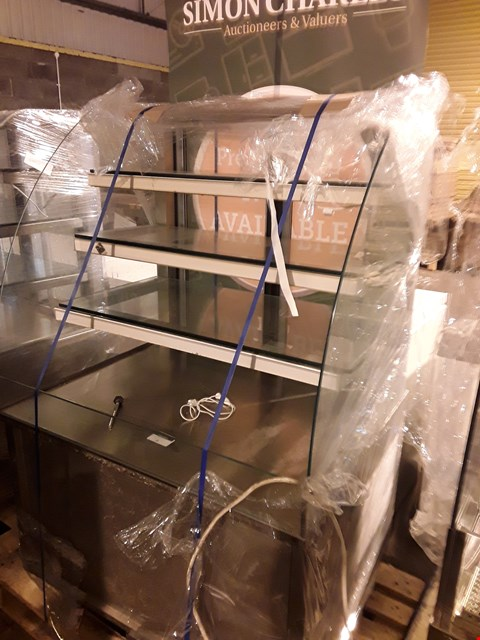 Lot 3 REFRIGERATED GLASS TOP DISPLAY CABINET
