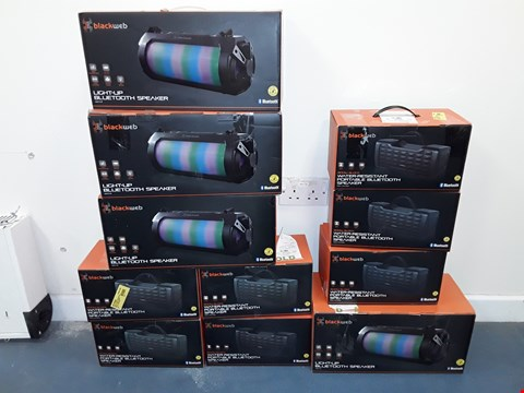 Lot 7101 LOT OF APPROXIMATELY 13 ASSORTED BLACKWEB BLUETOOTH SPEAKERS