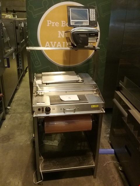 Lot 11 AVERY MEAT WEIGH/CUT/WRAP PACK STATION WITH AVERY XM601 PRINTER