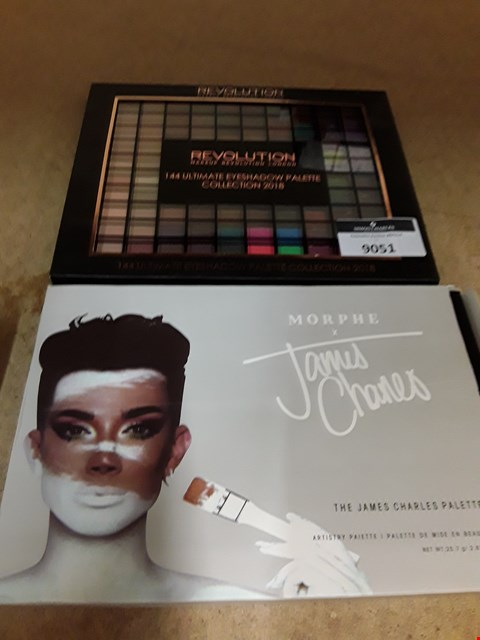 Lot 9051 TWO COLOUR PALETTES, REVOLUTION 144 ULTIMATE COLLECTION 2018 & MORPHE BY JAMES CHARLES