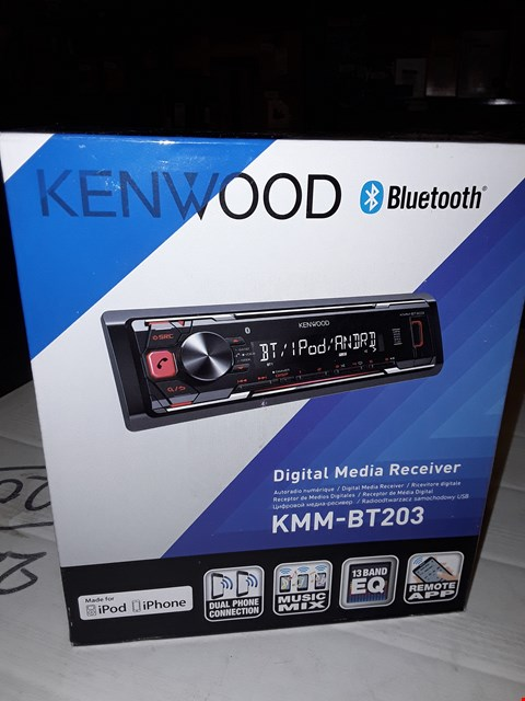 Lot 12444 KENWOOD BLUETOOTH KMM-BT203 DIGITAL MEDIA RECEIVER