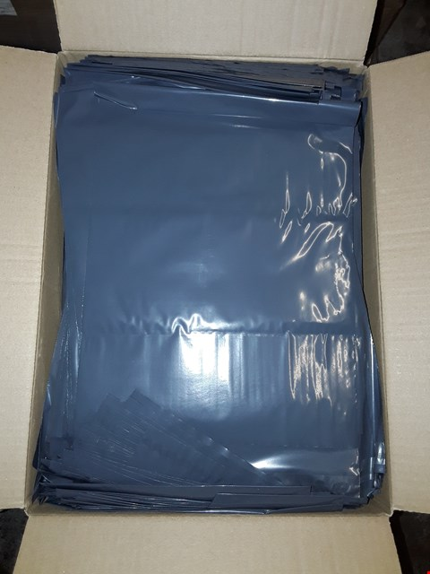 Lot 1027 BOX OF APPROXIMATELY 500 VERSAPAK MONO KE2 GREY OPAQUE POLYTHENE SELF SEAL BAGS 240X350MM