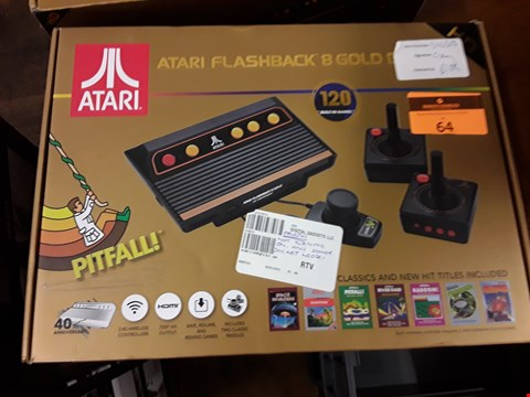 Lot 64 BOXED ATARI FLASHBACK 8 GOLD DELUXE GAMES CONSOLE WITH 120 BUILT IN GAMES