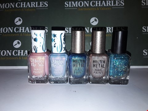 Lot 25 LOT OF 5X ASSORTED BARRY M NAIL POLISHES