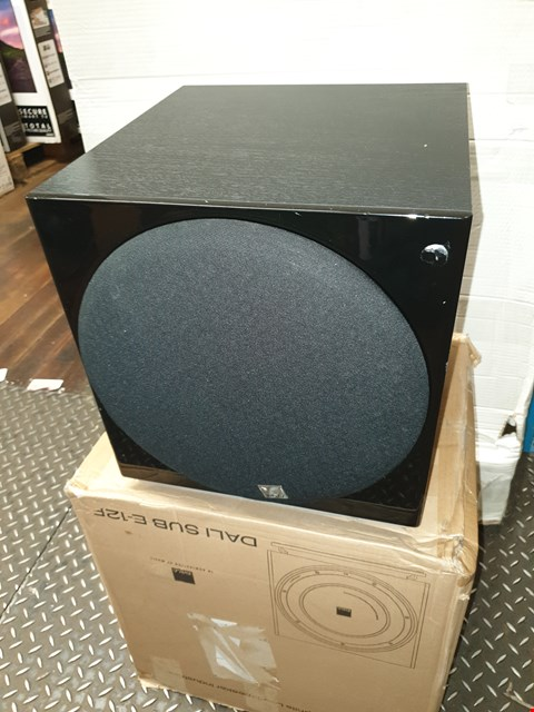 Lot 8021 BOXED DALI SUBWOOFER E12F RRP £299.00