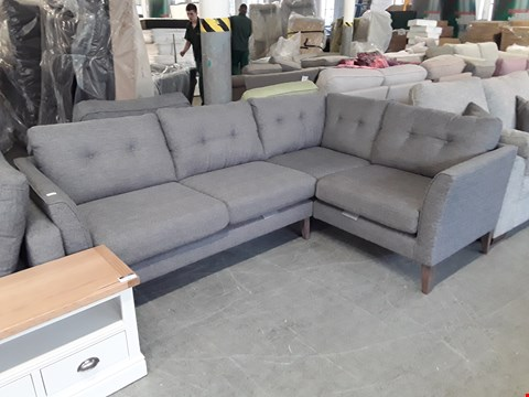 Lot 21 QUALITY BRITISH DESIGNER GREY FABRIC OTLEY CORNER SOFA