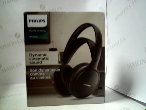 Lot 6274 PHILIPS HOME CINEMA WIRELESS OVER EAR HEADPHONES