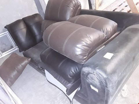 Lot 510 BLACK FAUX LEATHER TWO SEATER SECTION (NO CUSHIONS) & 4 SEAT BACKS