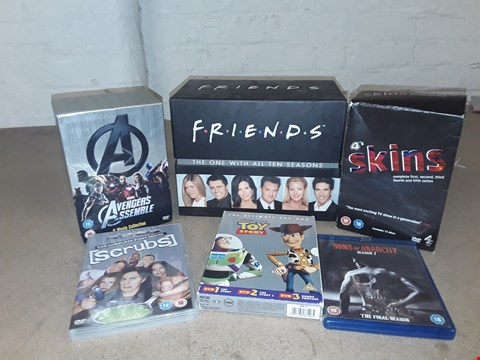 Lot 4152 LOT OF ASSORTED DVD BOXSETS  TO INCLUDE FRIENDS, SKINS, TOY STORY (3 BOXES)