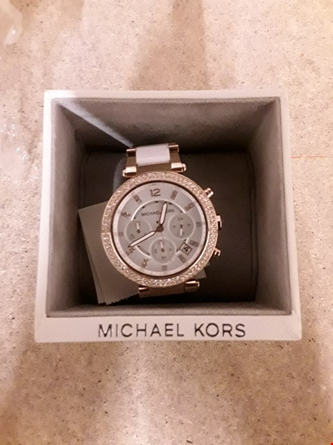 Lot 2239 MICHAEL KORS PARKER ROSE GOLD STAINLESS STEEL WATCH  RRP £399
