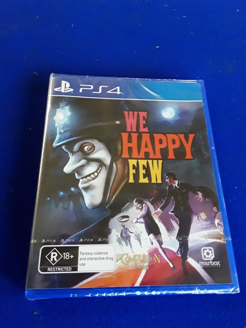 Lot 7619 WE HAPPY FEW PLAYSTATION 4 GAME
