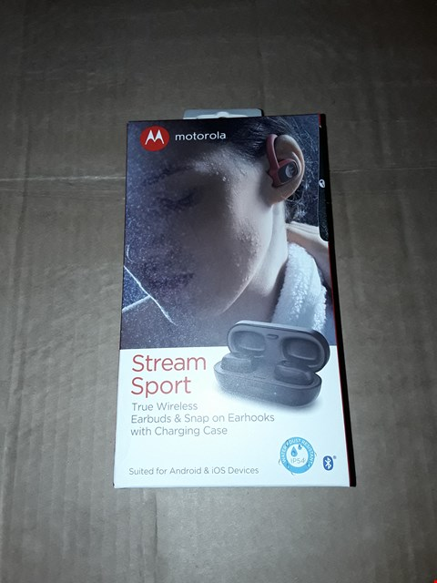 Lot 8084 MOTOROLA STREAM SPORT WIRELESS EAR BUDS