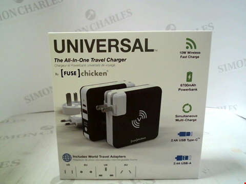 Lot 361 [FUSE] CHICKEN UNIVERSAL ALL-IN-ONE TRAVEL CHARGER