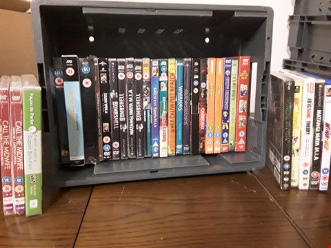 Lot 1023 BOX OF APPROXIMATELY 30 ASSORTED DVD'S TO INCLUDE GAME OF THRONES, INFERNO, ARROW, JURASSIC WORLD ETC