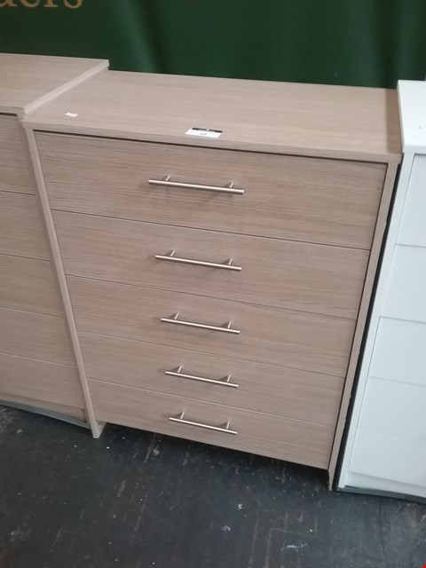 Lot 16 LAVANT OAK 5 DRAWER CHEST RRP £100